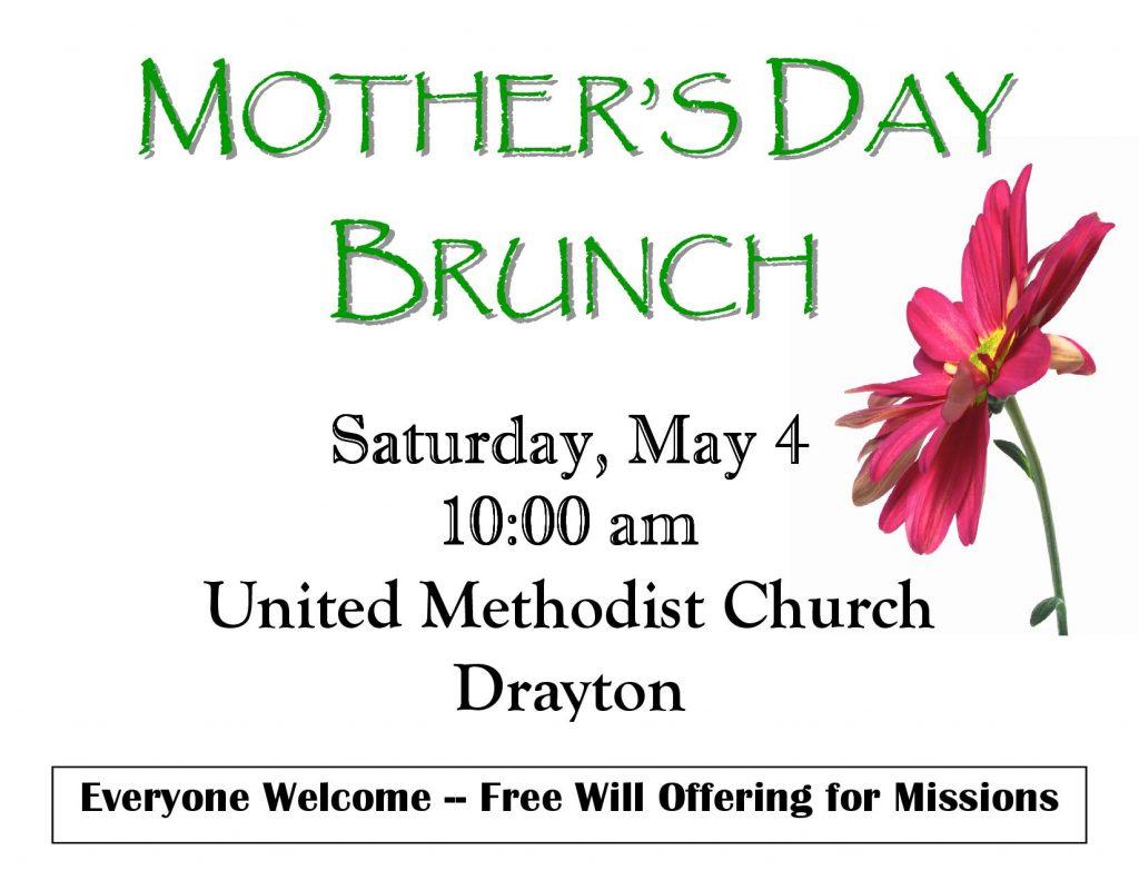 Mother's Day Brunch @ United Methodist Church