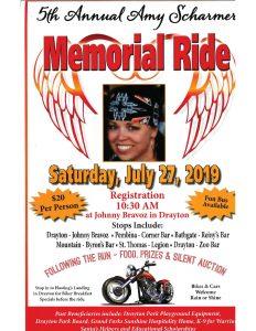 Amy Scharmer Memorial Ride @ Johnny Bravoz