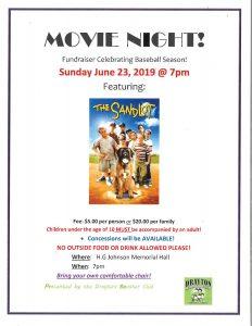 Movie Night Fundraiser @ HG Johnson Memorial Hall