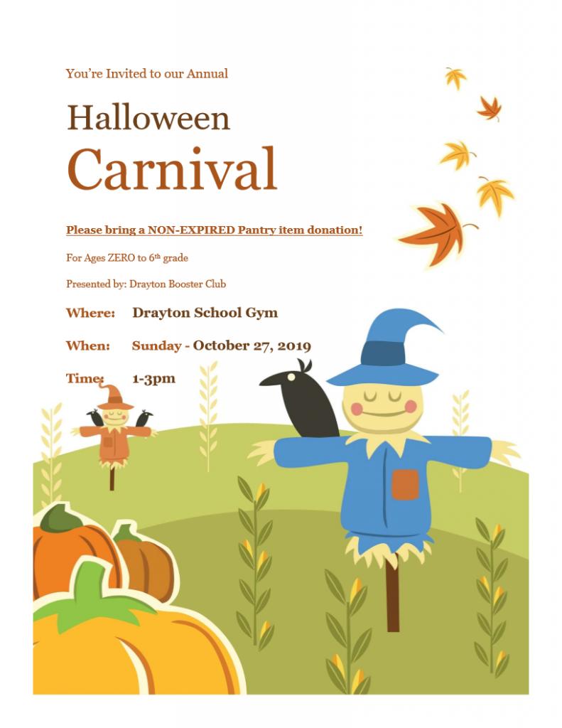 Halloween Carnival @ Drayton School Gymnasium