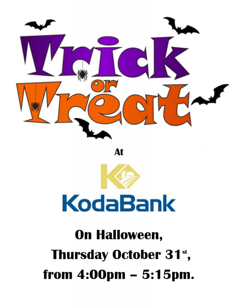 Tricks or Treats at KodaBank @ KodaBank